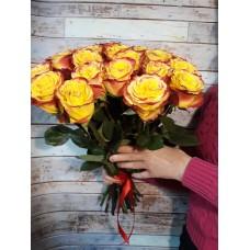 Букет из 25 желтых европейских роз
