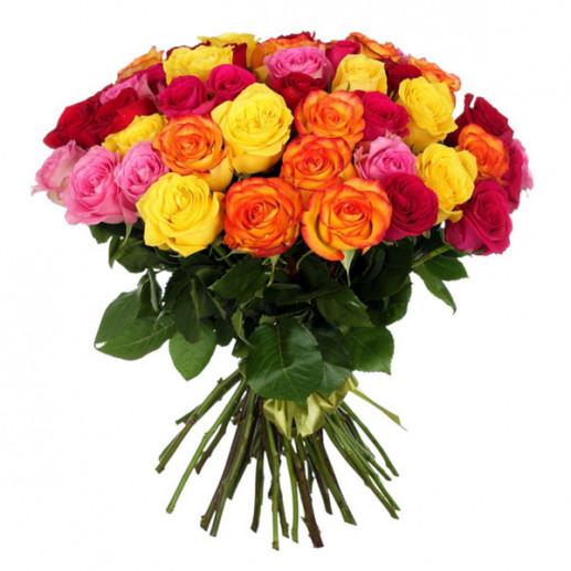 Букет из роз (цвет на выбор) - 1632 рублей
