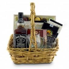 Подарочная корзина с виски Джек Дэниэлс (Jack Daniels)