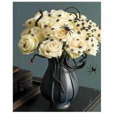 Букет из 25 роз с декором