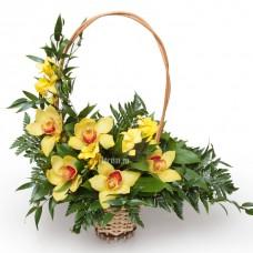 Настольная Корзинка из орхидеи