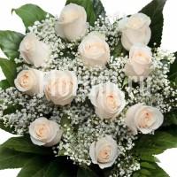 """Букет из 11 белых роз """"Нежность"""""""
