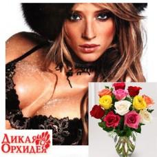 Подарочный сертификат Дикая Орхидея + букет из 21 розы