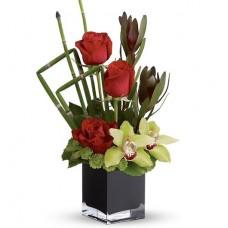 """Композиция бамбук и розы """"Марпл"""""""