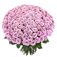"""101 фиолетовая роза в букете """"Марси"""""""