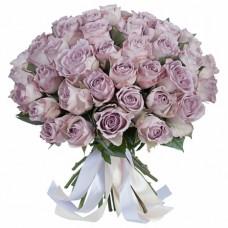 """35 фиолетовых роз в букете """"Сури"""""""