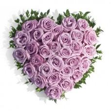 """Сердце фиолетовых роз """"С любовью"""""""