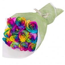 """Букет 13 радужных роз """"Мелиса"""""""