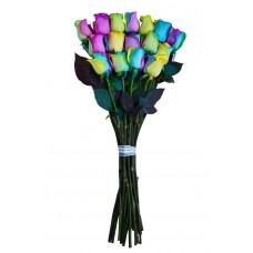 """Букет 17 радужных роз """"Долли"""""""