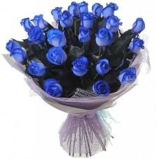"Букет из 25 синих роз ""Классика"""