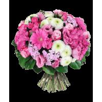"""Букет 3 роз с герберами и хризантемами """"Комплимент"""""""