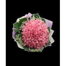 """Букет из 101 розовой розы """"Дорогому человеку"""""""