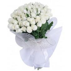 """Букет из 51 белой розы """"С любовью"""""""