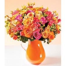 "Букет из 35 разноцветных роз ""Лаура"""