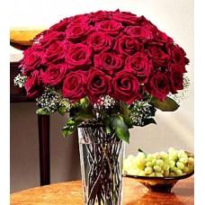 """Букет из 25 красных роз """"Тартария"""""""