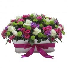 """Композиция кустовых роз и хризантем """"Джулия"""""""