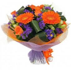 """Сборный букет из сезонных цветов """"Келли"""""""