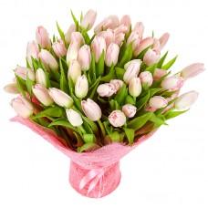"""Букет из 51 тюльпана """"Весеннее чудо"""""""