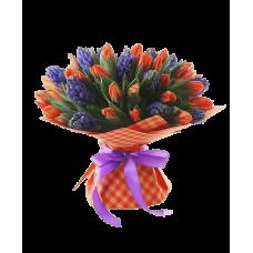 """Букет тюльпанов и гиацинтов """"Весна"""""""