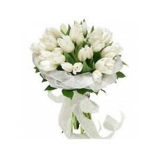 """Букет белых тюльпанов """"Мерлин"""""""