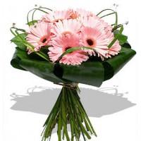 """Букет из 11 розовых гербер """"Стиль и нежность"""""""