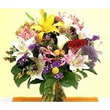 """Букет из лилий и экзотических цветов """"Летний полдень"""""""