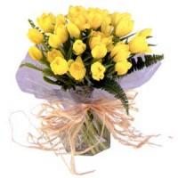 "Букет из 21 желтого тюльпана ""Солнечные тюльпаны"""