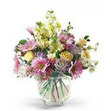 """Букет из гербер, роз, хризантем и альстромерий """"Летний аромат"""""""
