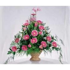 Напольная Корзина из розовых гербер