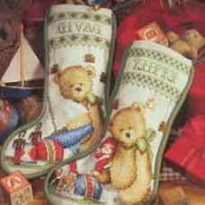 """Рождественский носочек со сладостями """"Подарок Санты"""""""