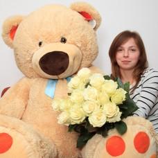 Подарочный набор из 15 роз и мягкого Медведя