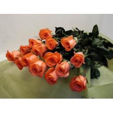 Букет из 15 розово-оранжевых роз Мувистар