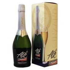 Подарочный набор из Шампанского Асти Чинзано (Asti Cinzano) + 2 бокала