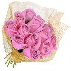 """Букет из 15 розовых роз """"Классический"""""""