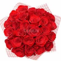"""Букет из 25 красных роз """"Корона Императора"""""""