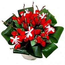 """Букет из 35 красных тюльпанов """"Признание"""""""